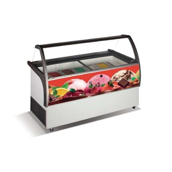 Crystal Venus Elegante 36 8 Pan Ice Cream Display Counter -15 to -22C (Direct)-0