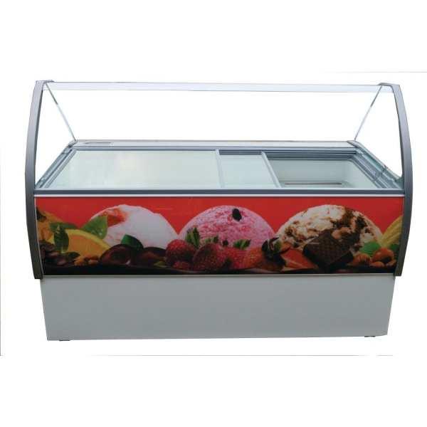 Crystal Venus Elegante 46 10 Pan Ice Cream Display Counter -15 to -22C (Direct)-0