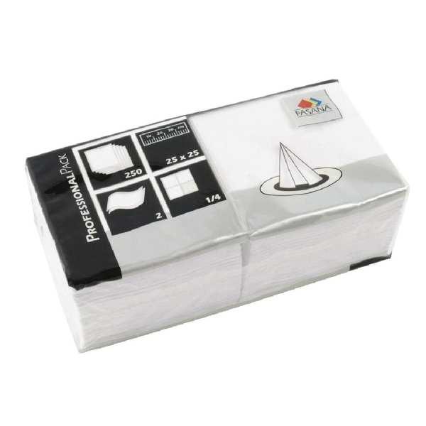 Fasana Napkin White 2Ply 1/4Fold - 250x250mm (Box 1500)-0