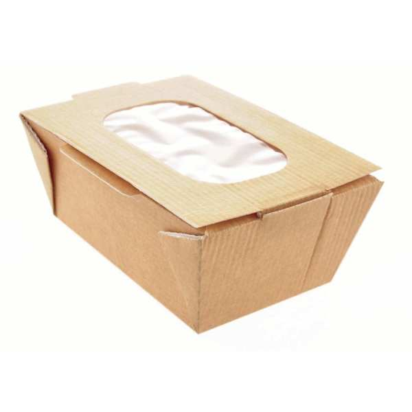 Small Food to Go Box (with Window) 80x125x60mm (Box 360)-0