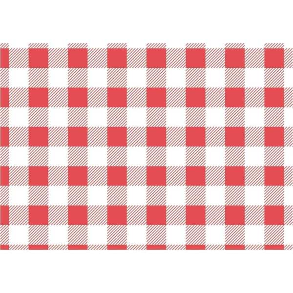 Red Gingham Greaseproof Paper - 190x310mm (Pack 200)-0