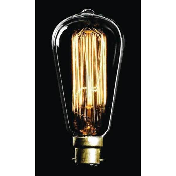 Crystalite Antique Squirrel Cage ST64 BC 60watt Decorative Lamp-0
