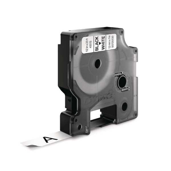 DYMO D1 Tape 12mm Black on White-0
