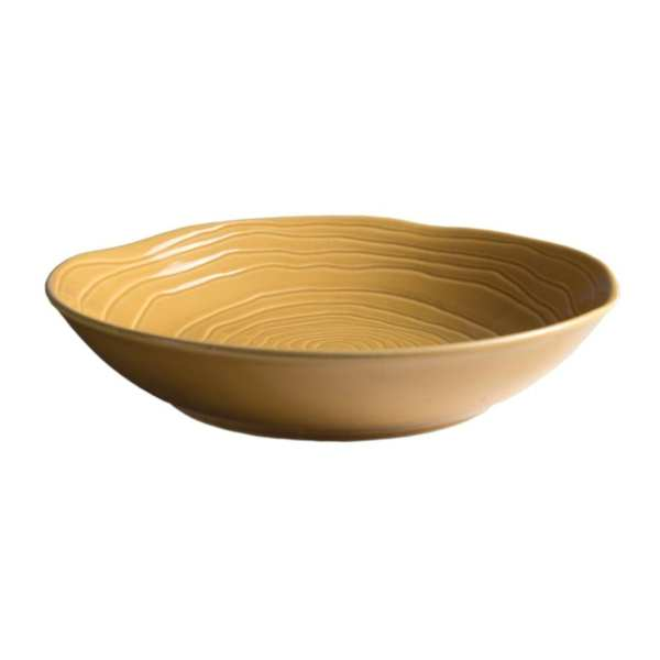 Pillivuyt Teck Shallow Round Bowl 260mm Honey (Box 6) (B2B)-0