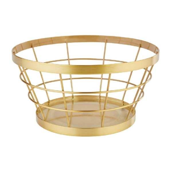 APS+ Metal Basket Gold Brushed 210mm d 110mm h (B2B)-0