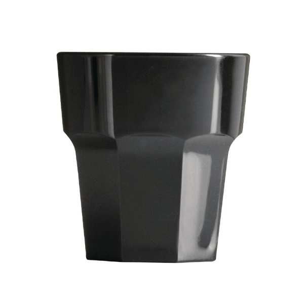 BBP Rocks Tumbler Black Polycarbonate - 256ml 9oz (Box 36)-0