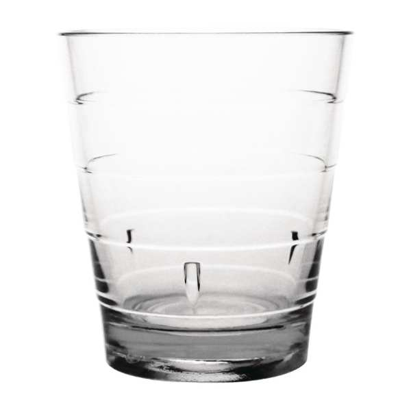 Kristallon Polycarbonate Ringed Tumbler - 285ml 10oz Clear (Box 6)-0