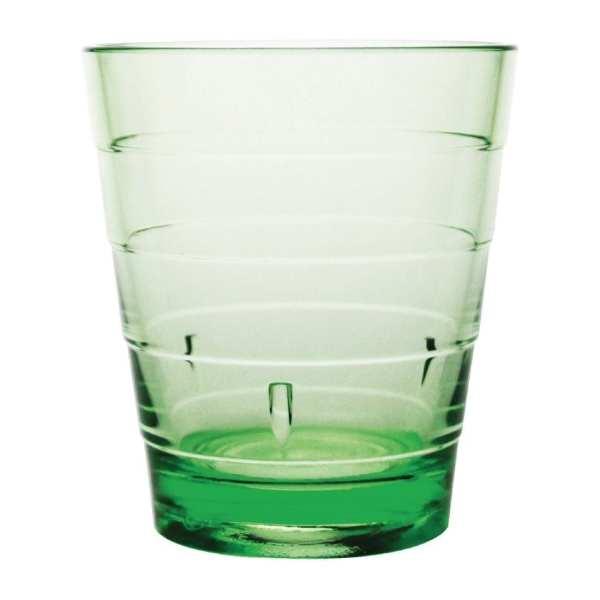 Kristallon Polycarbonate Ringed Tumbler - 285ml 10oz Green (Box 6)-0