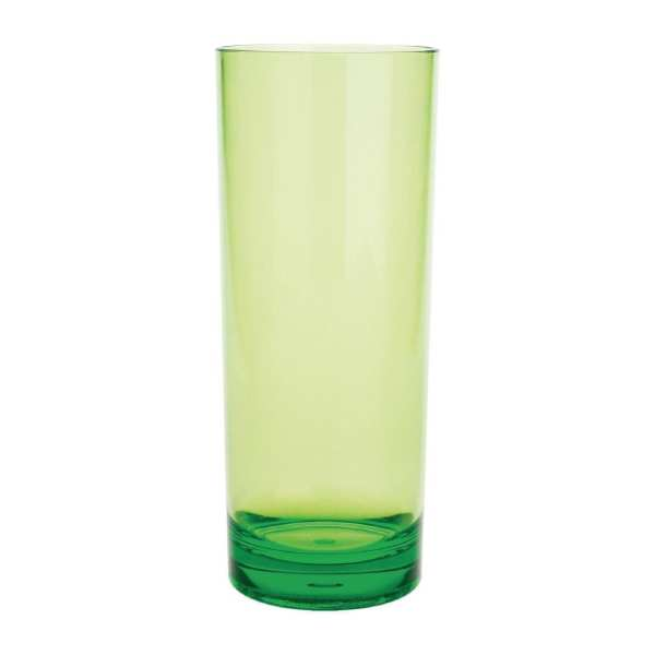 Kristallon Polycarbonate Hiball Tumbler - 360ml 12.75oz Green (Box 6)-0