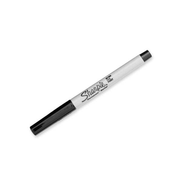 Sharpie Ultra Fine Permanent Marker Black Blister (Pack 2)-0