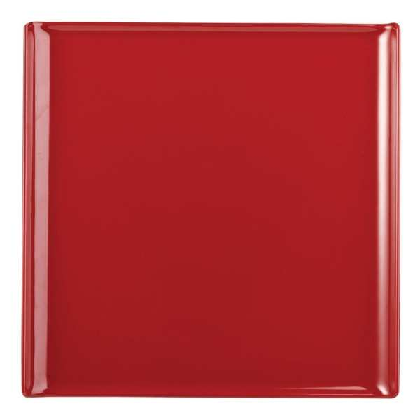 Alchemy Buffet Red Melamine Square Tray - 303x303mm (Box 4) (Direct)-0