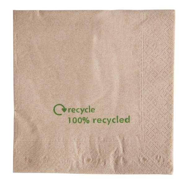Napkin Kraft 100% Recycled - 33x33cm (Box 2000)-0