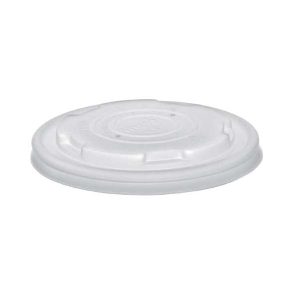 Vegware Flat Lid for Soup/Ice Cream Container - 8oz (Box 1000)-0