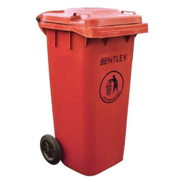Wheelie Bin Red - 120Ltr (Direct)-0