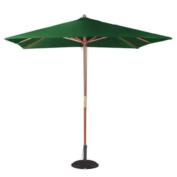 Bolero Green Square 2500mm Pulley Parasol-0