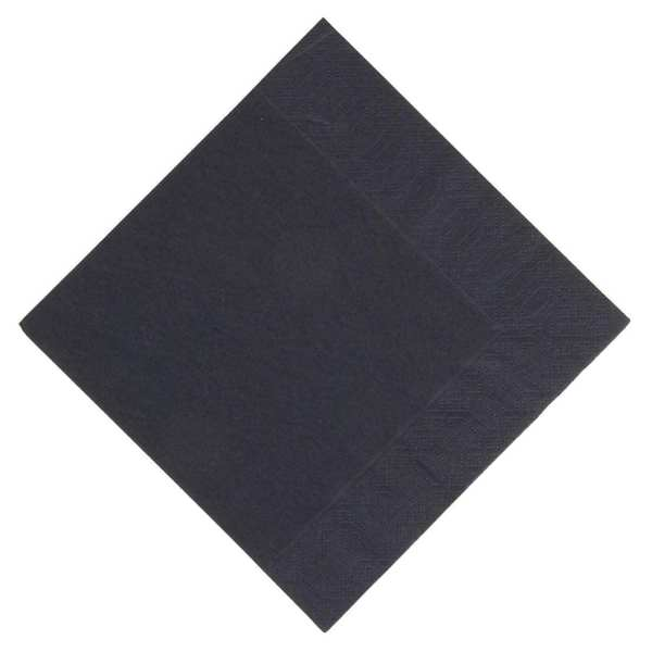 Duni Lunch Napkin - 33x33cm 3ply Black (Pack 1000)-0