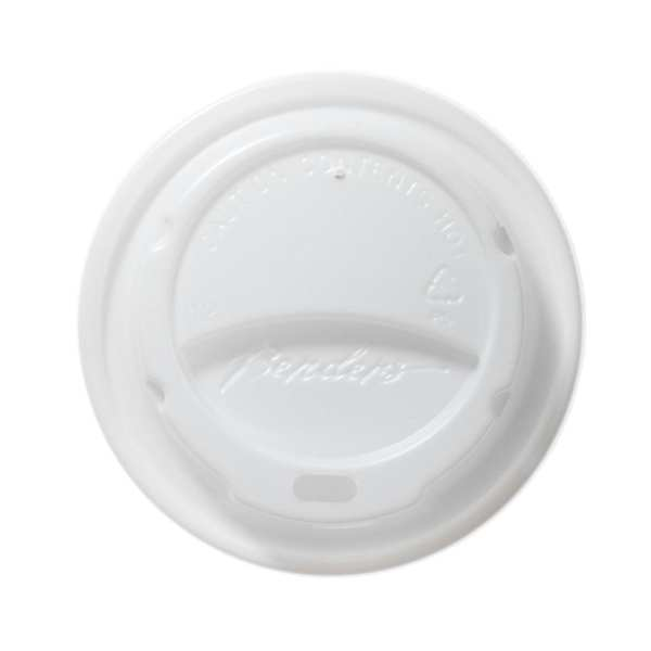 Barrier Hot Cup Domed Lid White - 12/16oz (Box 1000)