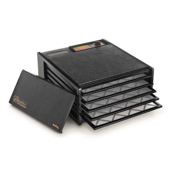 Excalibur 4500B 5 Tray Dehydrator Black (38x38trays)-0