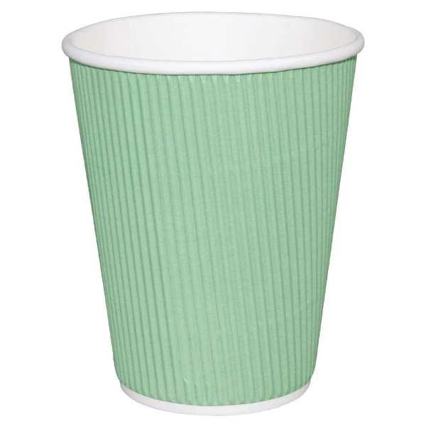 Fiesta Hot Cups Ripple Wall Aqua - 228ml (8oz) (Box 500)-0