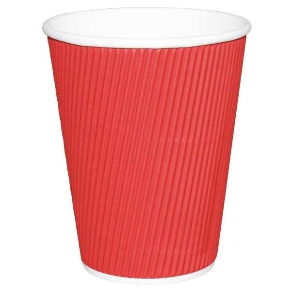 Fiesta Hot Cups Ripple Wall Red - 228ml (8oz) (Box 500)