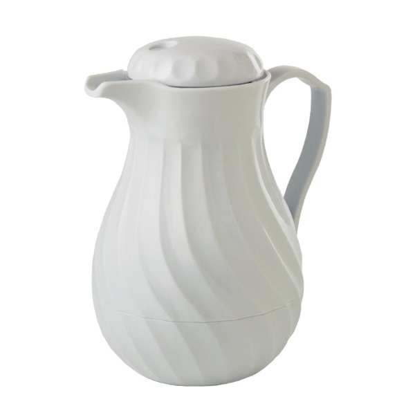 Connoisserve Insulated Swirl Jug White - 1.8Ltr 64oz-0