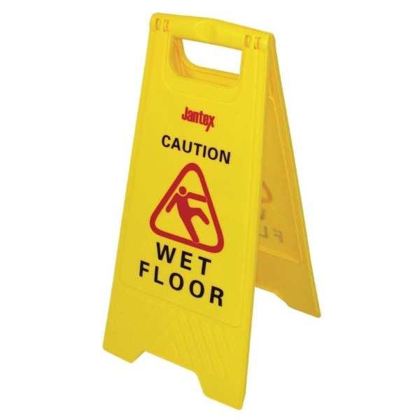 Jantex Wet Floor Sign 'Caution Wet Floor'-0