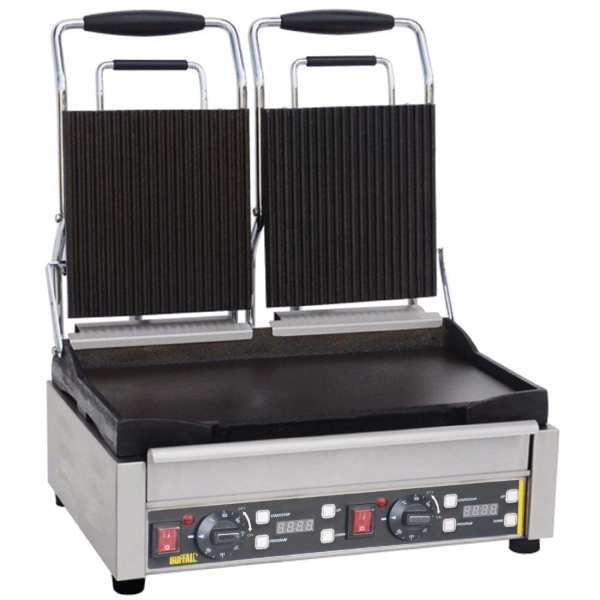 Buffalo Contact Grill Double Ribbed/Flat-0
