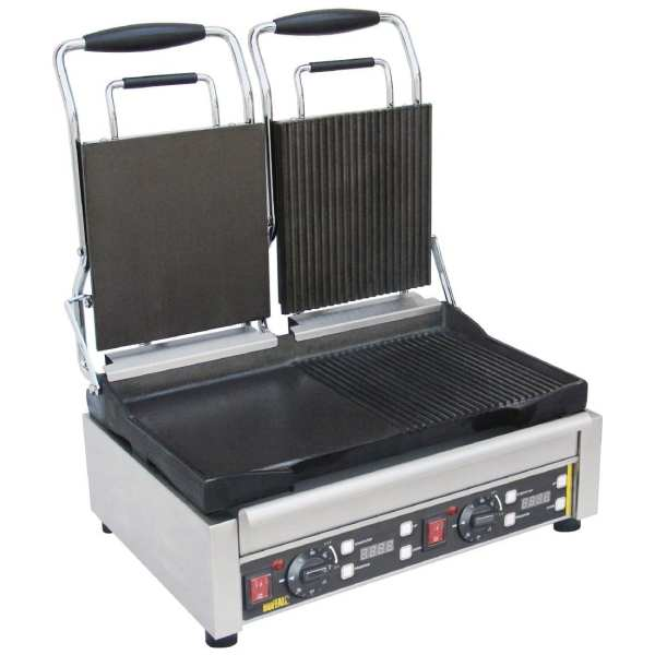 Buffalo Contact Grill Double Flat Left/Ribbed Right-0