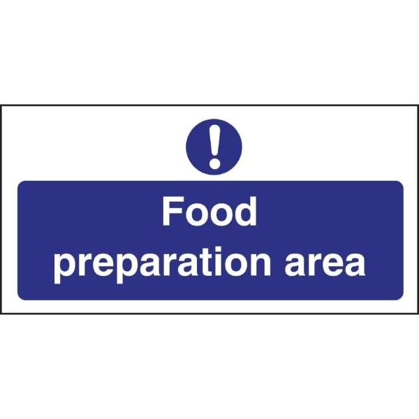 Food Prep Area Sign (Self-Adhesive)-0