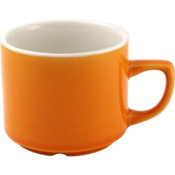 New Horizons Coloured Border Orange Maple Cup Solid 7oz (Box 24) (Direct)-0