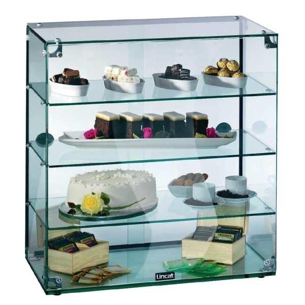 Lincat Seal Glass Cabinet (4 Tier No Doors) - 645Hx600Wx350D (Direct)-0