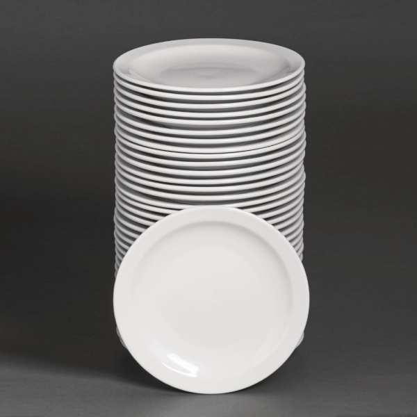 "Bulk Buy - Athena Hotelware Narrow Rimmed Plate - 20.5cm 8"" (Box 36)-0"