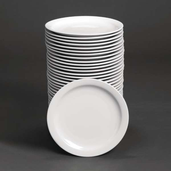 "Bulk Buy - Athena Hotelware Narrow Rimmed Plate - 25.8cm 10"" (Box 36)"