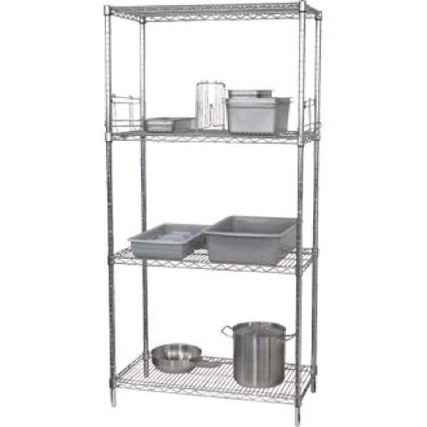 Vogue Flat Pack 4 Shelf Unit - 61x91cm-0