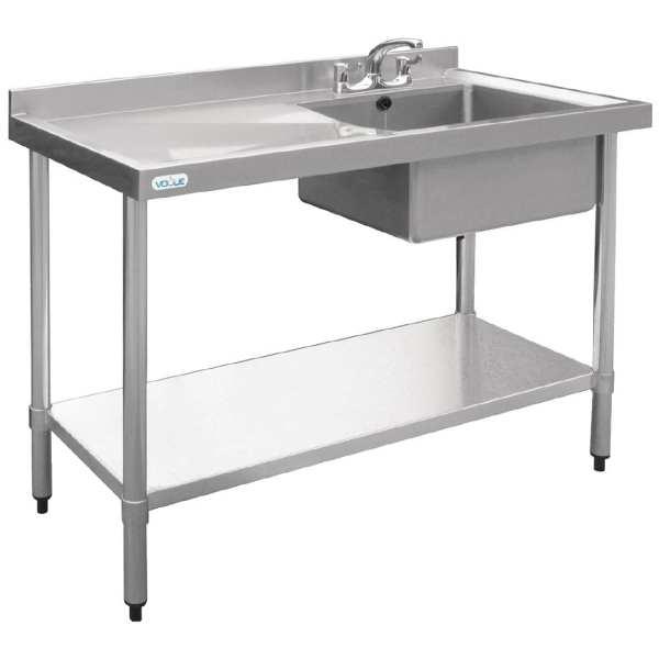 Vogue Single Bowl Sink L/H Drainer - 1200mm-0
