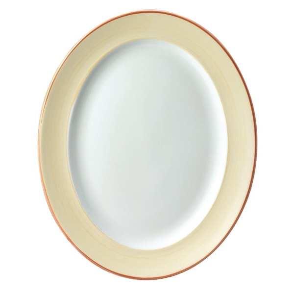 "Sahara Oval Rimmed Plate 14 3/8"" (Box 6) (Direct)-0"