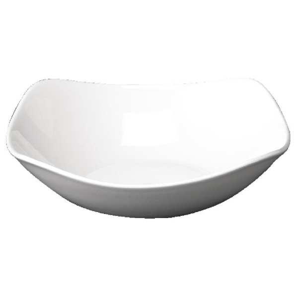 "X-Squared Square Bowl White 9.25""x9.25"" 235x235mm (Box 12) (Direct)-0"