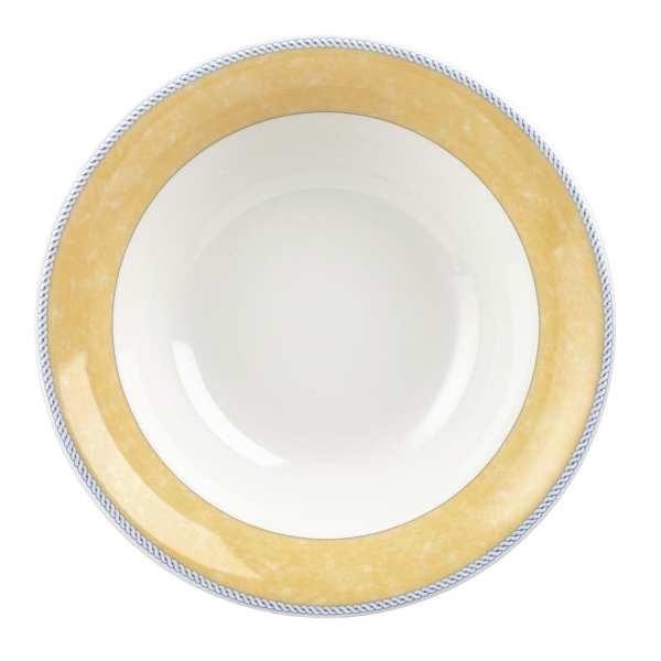 New Horizons Coloured Border Yellow Salad Bowl Large (Box 12) Direct-0
