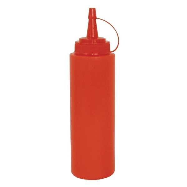 Vogue Squeeze Sauce Bottle Red - 35oz-0