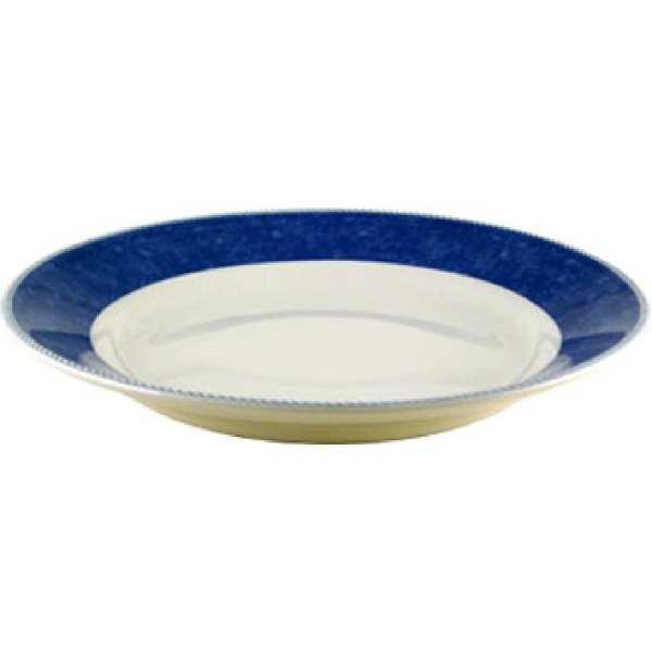 "New Horizons Coloured Border Blue Mediterranean Dish 11"" (Box 12) (Direct)-0"