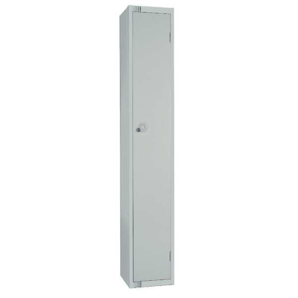 300mm Deep Locker 1 Door Camlock Mid Grey - 1800x300x300mm (Direct)-0