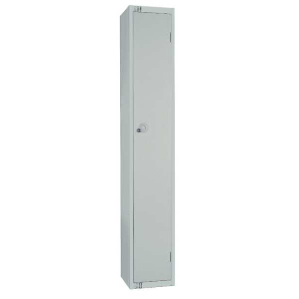 450mm Deep Locker 1 Door Camlock Mid Grey with Sloping Top (Direct)-0