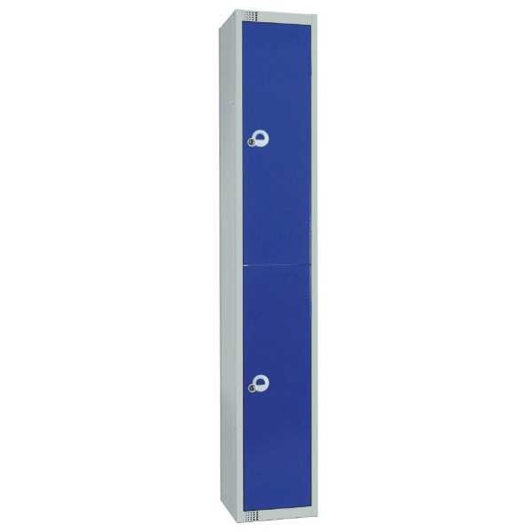 450mm Deep Locker 2 Door Padlock Blue - 1800x450x300mm (Direct)-0