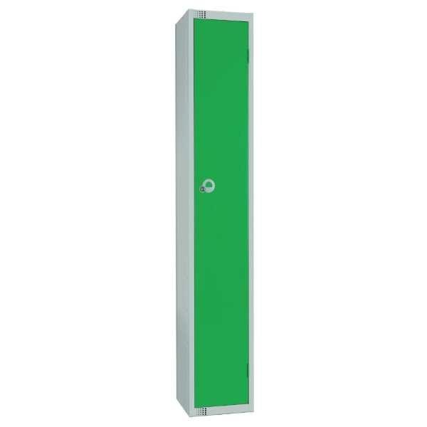 450mm Deep Locker 1 Door Camlock Green with Sloping Top (Direct)-0