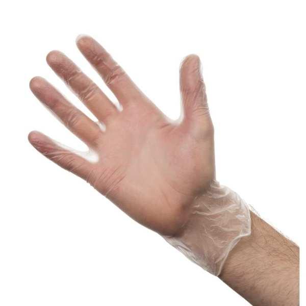 Vinyl Gloves - Powder Free Clear - Small - Box 100