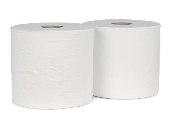 Forecourt Wiper Rolls 2ply White - 1000 Sheet - 2 Pack