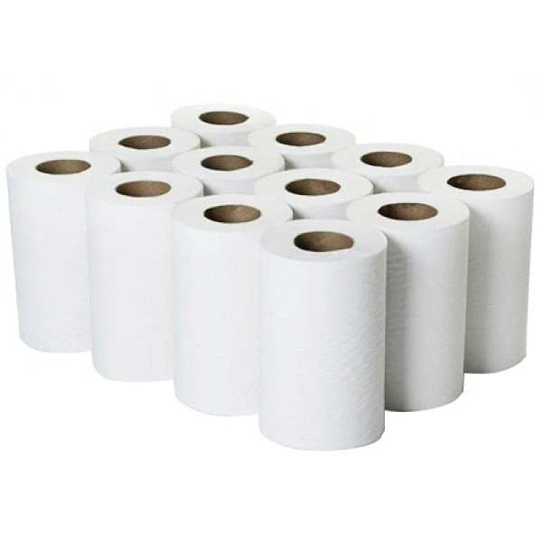 Mini Centrefeed Rolls 2ply White - 60m - 12 Pack