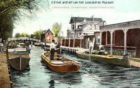 De eerste Loosduinse veiling aan de Loosduinseweg.
