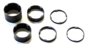 Carbon Fiber Headset Spacers, 1 1/8 inch Threadless