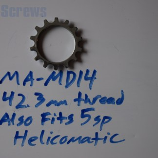 Maillard 700 Freewheel MD 5 speed 14T threaded Cog, 5 speed Helicomatic